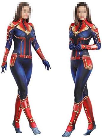 TOYSSKYR Capitán Marvel Cosplay Disfraz Medias corporales ...