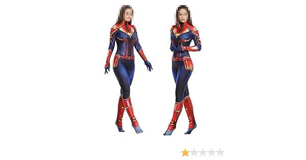 SPIDERZBXIONG Capitán Marvel Cosplay Disfraz Medias Adultas ...