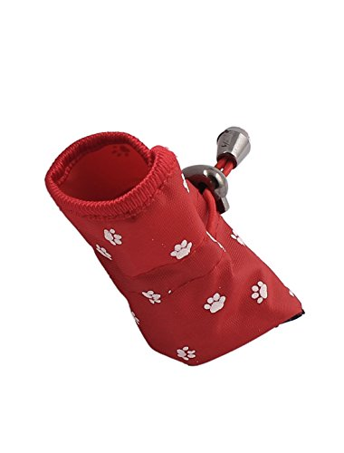 Picture of uxcell 2 Pair XX-Small Pet Dog Puppy Waterproof Anti-Slip Rain Shoes Boots, Small, Red