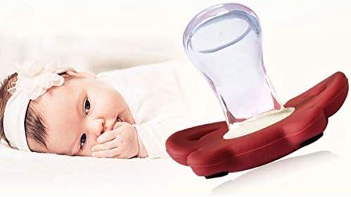 Tivollyff シリコーンおかしい赤ちゃんおしゃぶりダミー乳首おしゃぶりなだめるおもちゃ幼児パーシー歯列矯正乳児クリスマスギフトベビーケア