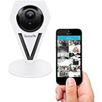 Mini Indoor Wireless IP Camera - HD 720p Network Security Surveillance Home Monitoring w/ Motion Detection, Night Vision, 2 Way Audio, iPhone Android Mobile App - PC WiFi Access - SereneLife IPCAMHD12
