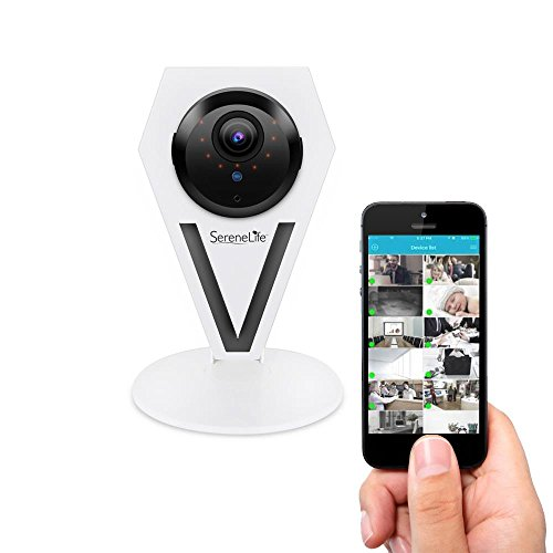 Mini Indoor Wireless IP Camera - HD 720p Network Security Surveillance Home Monitoring w/Motion Detection, Night Vision, 2 Way Audio, iPhone Android Mobile App - PC WiFi Access - SereneLife - Server Accesories