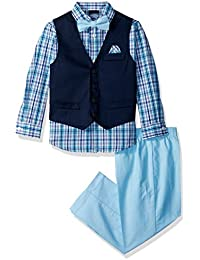 Boys' Patterned Four-Piece Dress Vest Set