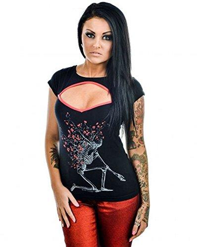 Too Fast - Damen Rockabilly Dead Flowers T-Shirt (S-L)