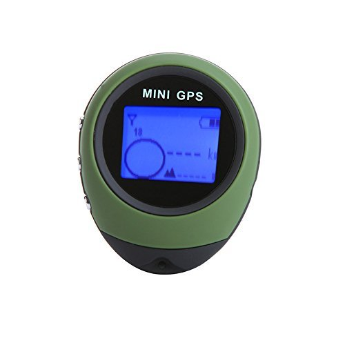 EverTrust(TM) Updated PG03 Mini GPS Receiver Navigation Handheld Location Finder USB Rechargeable with Compass for Outdoor Sport Travel