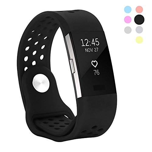 Hanlesi Fitbit Charge 2 Bands , Replacement Fitness Accessory Silicone Wristband Fashion Colorful Sport Strap – DiZiSports Store