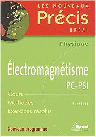 Livre gratuits Electromagnétisme PC-PSI pdf epub