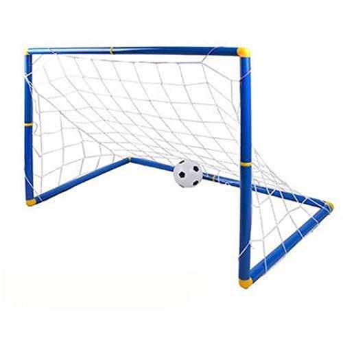 adahill ( TM )ポータブル折りたたみ子供Kid Goal FootballドアセットFootballゲートアウトドアインドアおもちゃスポーツトイ B01M5CUZWQ ブルー ブルー