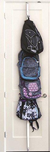 SM NEW Overdoor Accessory Organizer Storage Hat Cap Backpack Purse Bag Closet 8 Clips - Sm Clip Organizer