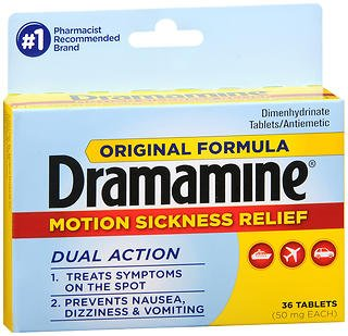 Dramamine Motion Sickness Relief Tablets Original Formula - 36 ct, Pack of 3 ()