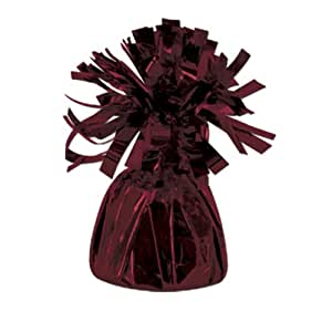 Metallic Wrapped Balloon Weight (maroon) Party Accessory  (1 count)