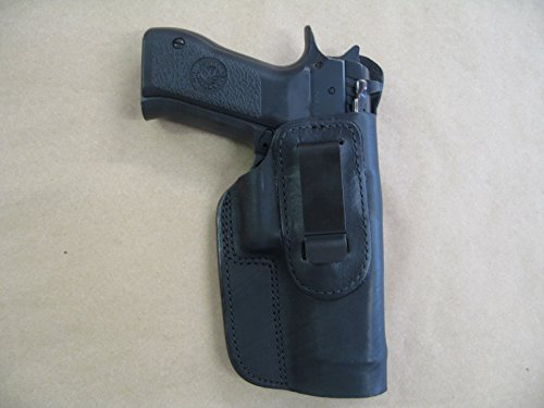 Azula IWB Leather in Waistband Conceal Carry Holster for CZ 75 SP-01 SP01 Black RH (Best Iwb Holster For Cz 75 Compact)
