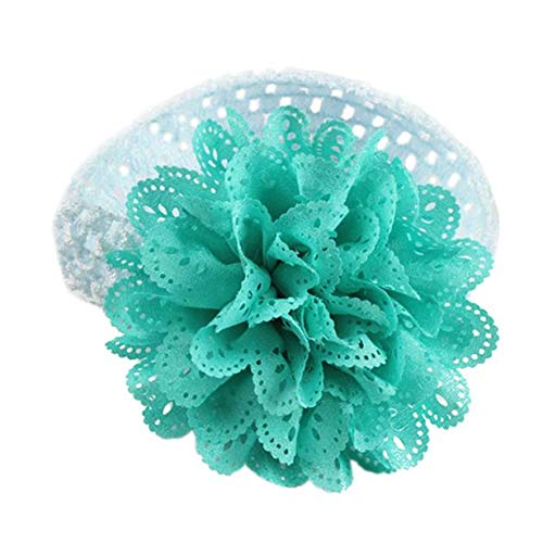 (New in Respctful✿Baby Girls Headbands Chiffon Flower Soft Strecth Hair Band Hair Accessories for Baby Girls Infants and Kids Sky Blue)