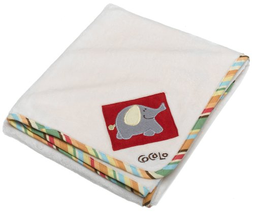 CoCalo Alphabet Appliqued Sherpa Blanket