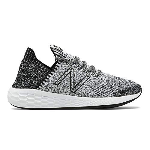 (New Balance Women's Cruz Sock Fit V2 Fresh Foam Running Shoe Black/White 7 B US)