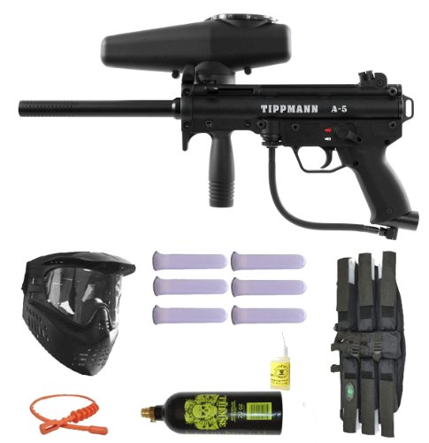 Tippmann A-5 Paintball Marker Gun 3Skull Mega Set