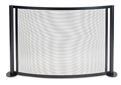 Pilgrim Home and Hearth 18347 Panorama Bowed Fireplace Screen, Black