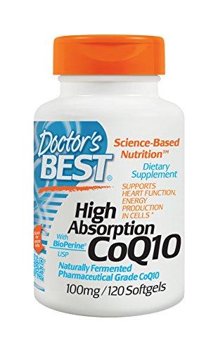 Mejor alta absorción de Coq10 del doctor con BioPerine (100 mg), 120 gel