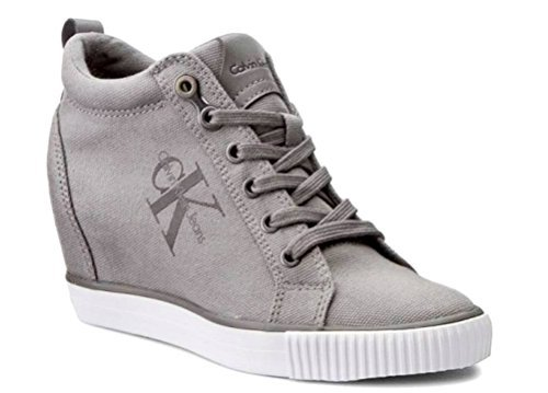 Calvin Klein Jeans Ritzy Canvas R3551 Grey Woman Sneakers Casual Grey JYyVlHIEaL