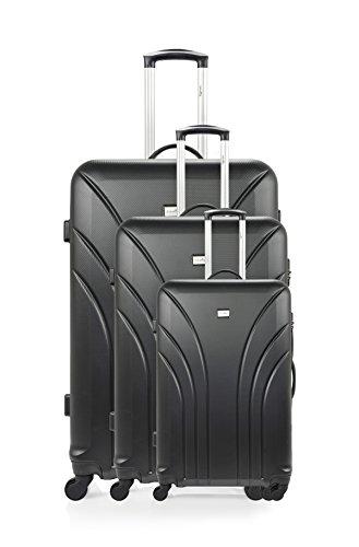 ANTONELLE Set de 3 trolleys rígidos Segur Negro Negro