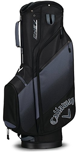 Callaway Golf 2018 Chev Cart Bag, Black/ Titanium/ White