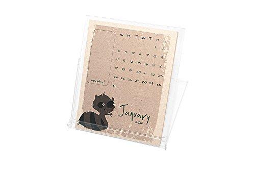 Ruff House Art Woodland Whimsey Animals Self-Standing Desktop Calendar with Case