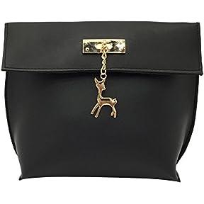 Girl Shoulder Bags, kaifongfu Vintage Small Deer Pendant Handbag Casual Bag