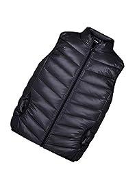 zhbotaolang Vest Child Sleeveless Waistcoat Jacket Windproof Warm Cotton Down Coat