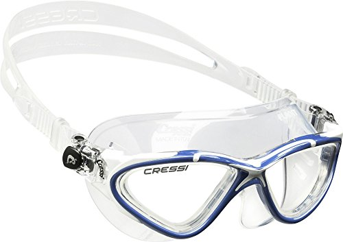 Cressi Planet, clear-blue/white, clear lens