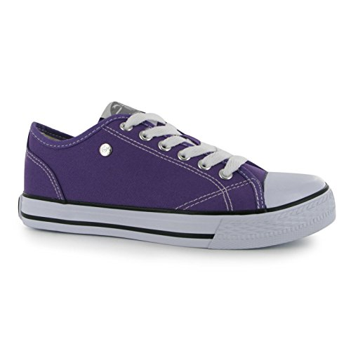 Dunlop Canvas (Dunlop Womens Ladies Footwear Canvas Low Trainers Sneakers Casual Shoes Purple 5)
