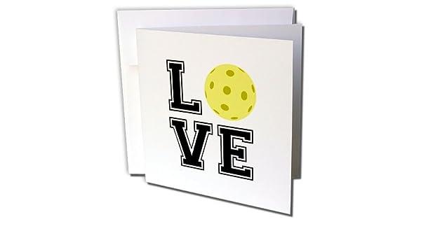 3dRose Tarjeta de felicitación Love Pickleball, 6 x 6 ...