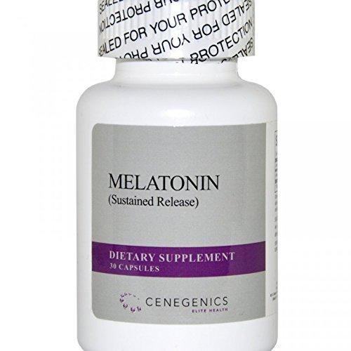 Cenegenics Mélatonine 1mg SR, 30 comptage pour aider à réguler le sommeil et réveil Cycles