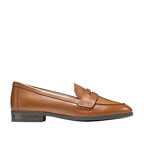 Cole Haan Women's Pinch Grand Penny Loafer Flat, British tan Leather, 8 B US