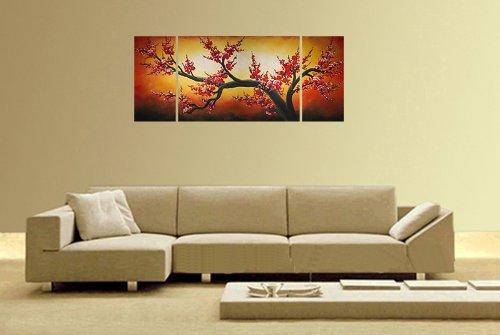 Amazon.com: Chinese Flower Painting Cherry Blossom Tree Painting ...
