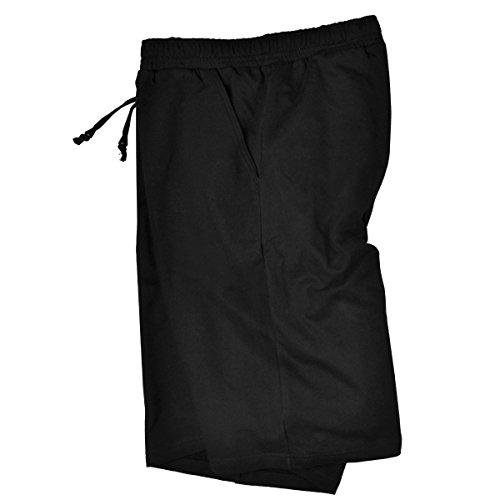 Adamo Taille Court Fashion De Grande Survêtement Pantalon Noir rFw80Hrq
