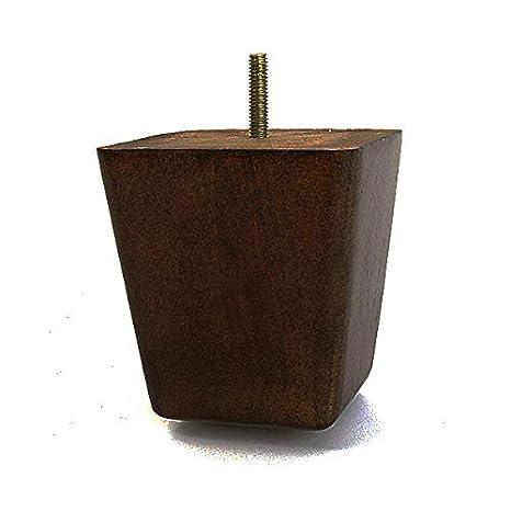 Amazon.com: Pata de sofá de madera cuadrada de 4.0 in con ...