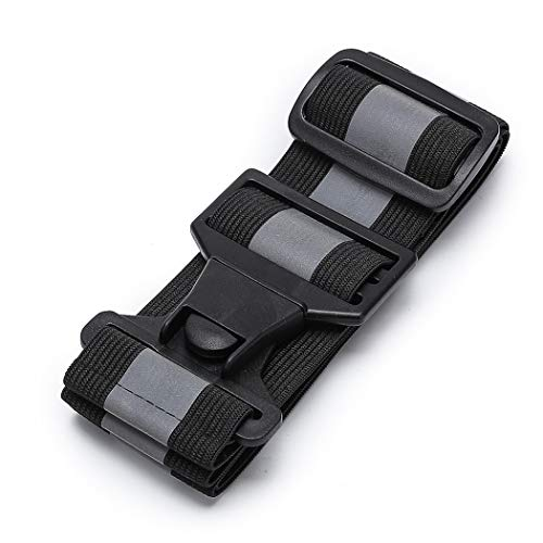 (A-SAFETY Safety Waist Belt, Reflective Safety Sash, High Visibility Sports Gear for Walking Jogging Cycling, Black)