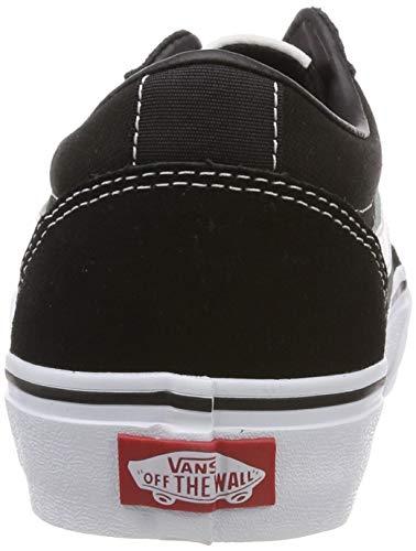 Vans logo Black Negro Ward Hombre Canvas Vh4 Mix Zapatillas white Para rrBYq