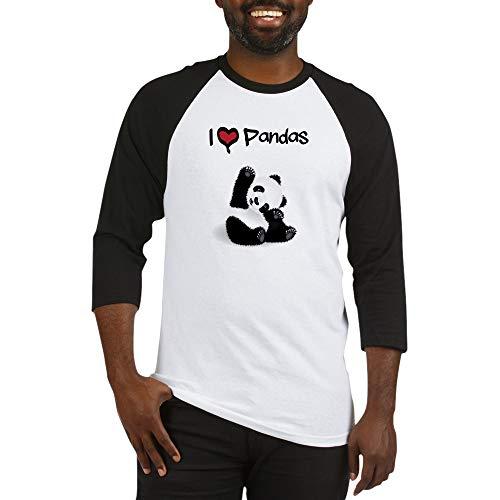 CafePress Baby Panda Baseball Jersey Cotton Baseball Jersey, 3/4 Raglan Sleeve Shirt - Panda Baseball Jersey