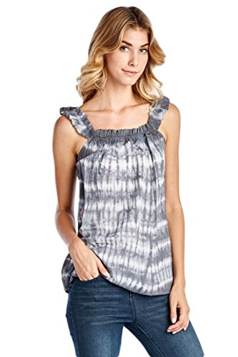 ocean-pacific-womens-tank-tops-tie-dye-large-gray