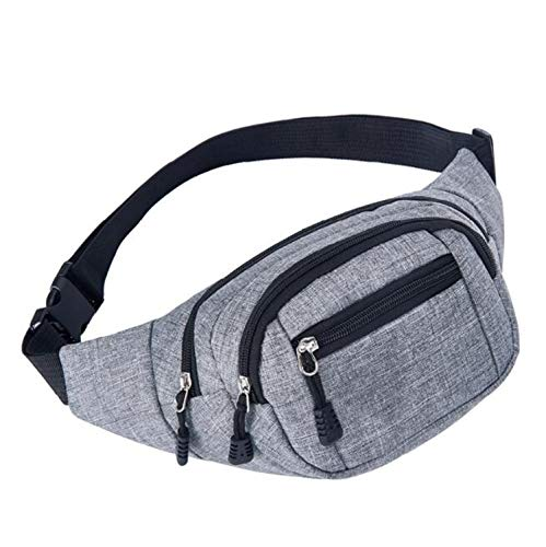 High Capacity Waist Bag Bananka Bum Bag Waterproof Antitheft Fanny Pack Men And Women Walking Mountaineering Belly Band Belt Bag,Gray