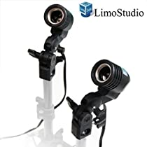 LimoStudio 2 Pcs Photography Studio AC Socket Light Stand Mount Umbrella Holder, AGG886
