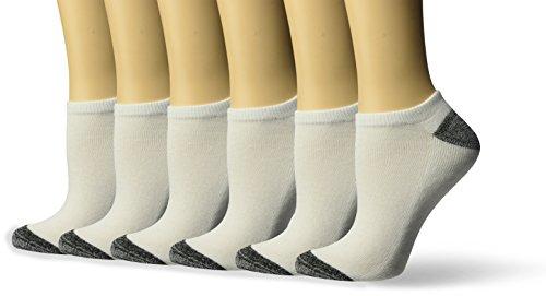 Nicole Miller Women's No Show Stocking Marled Heel and Toe, White 9-11