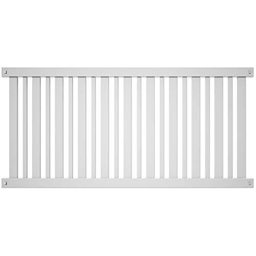 Outdoor Essentials Pro Series Evanston 4 ft. x 8 ft. White Vinyl Spaced Picket Fence Panel