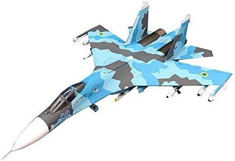 1/72スケール航空機モデル、Militaryukrainian空軍SU-27 08戦闘機モデル、アダルトグッズやギフト、12.