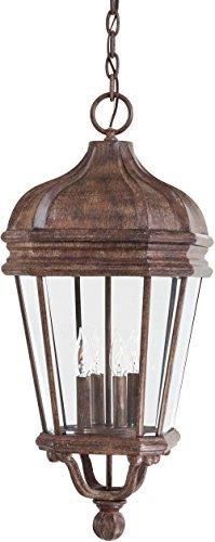 (Minka Lavery Outdoor Pendant Lighting 8694-61, Harrison Cast Aluminum Ceiling Lighting for Patio, 160 Watts, Rust)