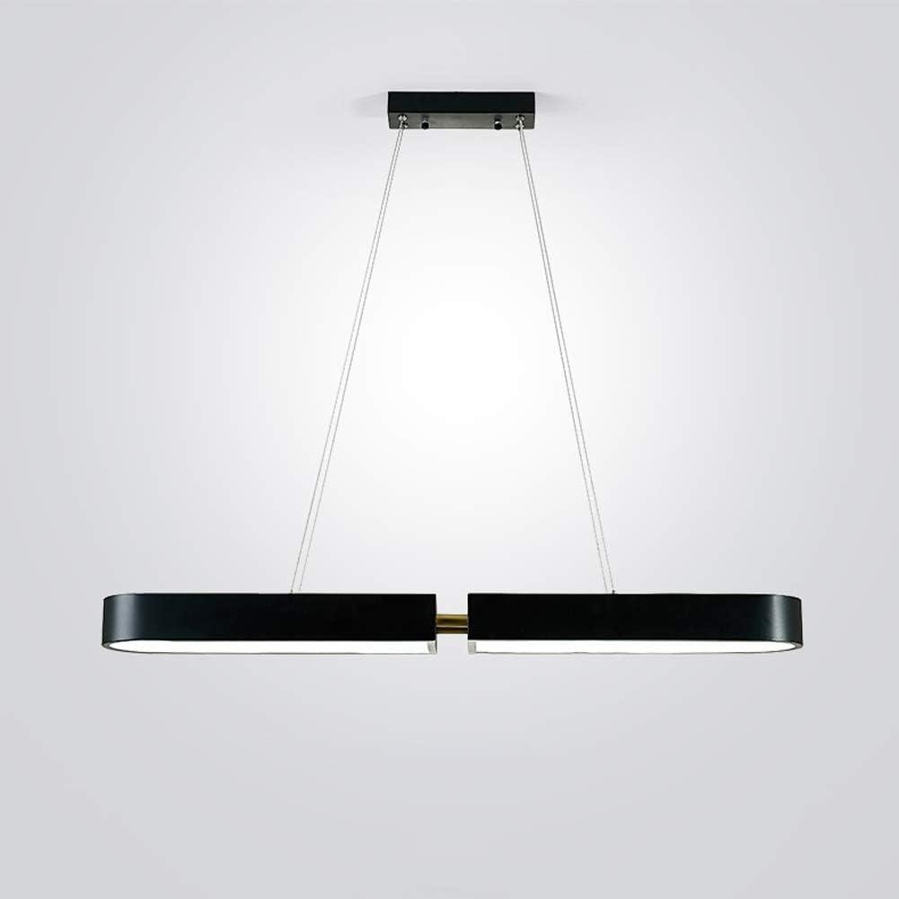 MMD Lámpara de luz de Panel LED Lámpara de Techo Rectangular Restaurante Creativo Moderno (Color : Black): Amazon.es: Hogar