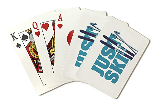 Just Ski - Ski Boards and Poles (Playing Card Deck - 52 Card Poker Size with Jokers)