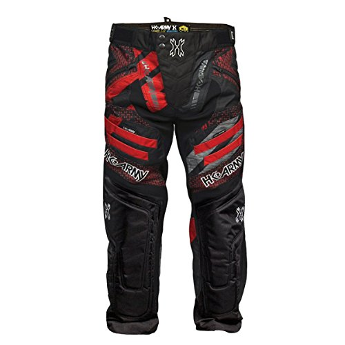 HK Army Hardline Paintball Pants - 2018/2019 Styles (Fire, Medium) (Paintball Red Pants)