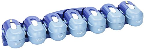 (Fit & Healthy Portable Pill Organizer Pod Containers)